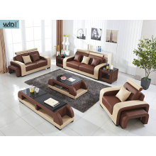 French Style Upholstered Leather Sofa combination