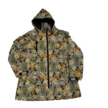 Tiger Hooded Reflective PU Raincoat