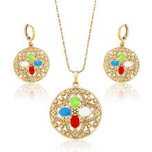 62794 Xuping bijoux de mode plaqué or boucles d'oreilles et pendentif