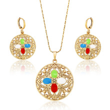 62794 Xuping fashion jewelry gold plated earring and pendant sets