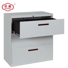 Fábrica diretamente venda KD estrutura lateral arquivo de armazenamento 3 gaveta do armário