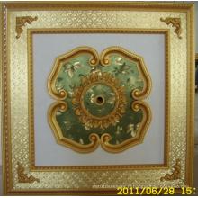 Plafonnier artistique décoratif de Bourgogne et doré Bracade Dl-1114-14