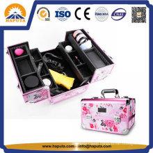 Pink Aluminum Professional Makeup Train Case