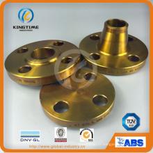 Bride de RF de Wn en acier carbone forgé bride avec revêtement jaune (KT0017)