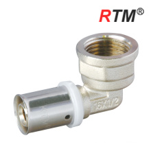 pex/al/pex gas pipe brass fitting joint female elbow press fitting