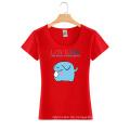 Top Qualität Großhandel Benutzerdefinierte Baumwolle Mode Druck Sommer Frauen T-shirt