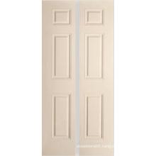 6 Panel Grained Bi-Fold Hangar Door