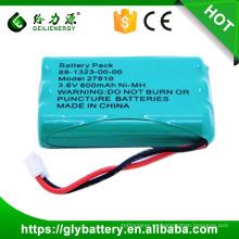 GLE-27910 NI-MH batería del teléfono inalámbrico 3.6V 600 mah para GE 25922 25932 25942 exportación al por mayor en el mundo de alta calidad