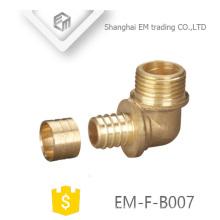 EM-F-B007 Rosca macho conector de dientes de bronce codo