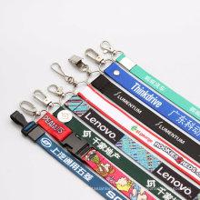 Дешевые полиэстер Custom ID шеи печатных стропы для рекламных подарков