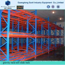 Warehouse Cold Steel Roller Push Back Self Slide Rack