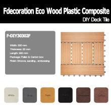 Jardim decorativo WPC DIY decking do revestimento composto plástico de telhas madeira