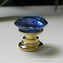 Acessórios azuis da mobília do hardware da decoração dos produtos vidreiros de 20mm