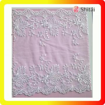 White lace fabric for wedding garments