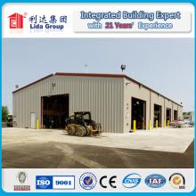 Niedrige Kosten-industrielle Schuppen-Stahlkonstruktion, die Lager errichtet