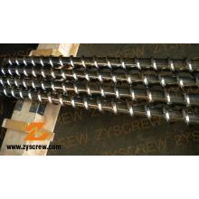 Cylindre à vis pour extrusion de câbles en PVC