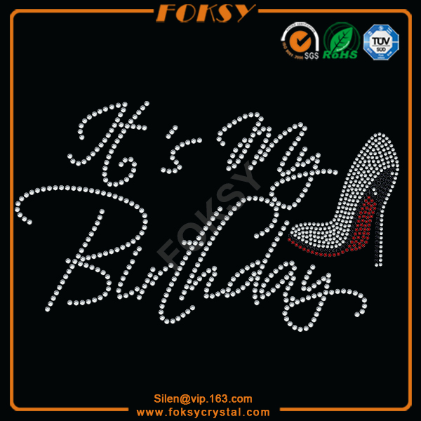 birthday rhinestone transfer