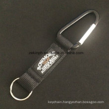 Polyester Belt Carabiner Hook with Assembled PVC Logo