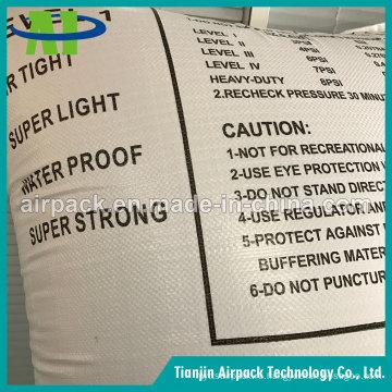 Белый Сплетенный PP сепарационный материалы подушки безопасности для контейнера