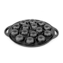 Small Balls Baking Pan Cast Iron 15-Hole Japanese Takoyaki Plate