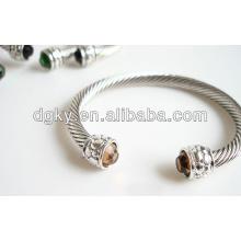 Bracelets en strass en acier inoxydable bracelets en strass