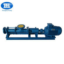 Mud slurry transfer single screw pump