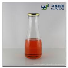 Screw Wide Mouth Clear 1 Liter Glass Beverage Juice Bottle Wholesale
