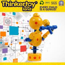 Bloc de construction éducatif en plastique pour enfants