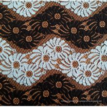 Черно-белая волнистая полоса Кружевная ткань