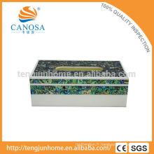 Boîte à tissus à coquillage d'écorce naturel à l'artisanat