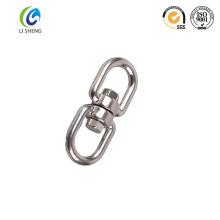 Oeil et oeil en acier inoxydable poli pour chaîne