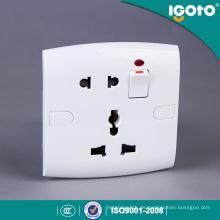 Igoto British Standard E19 Moderne elektrische Wandschalter und Steckdose