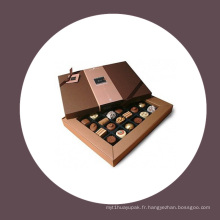 Boîte cadeau en papier au chocolat / boîte en carton avec estampage à chaud