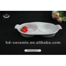 Gute qulity Spülmaschinensafe einzigartige Form plain weiße Keramik Hochzeit Platten Gerichte