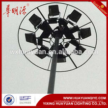 15m, 20m, 30m lift type High mast lighting pole Vertical mounted telescopic mast light tower lighting pole/tower price