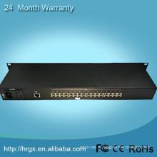 Китай профессиональный единственного поставщика волокна одиночного режима внутренняя сила ac220v 16 канала видеонаблюдения мультиплексор