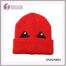 2016 Mais Recente Quente De Lã Grossa Cap Adorável Lace Rhinestone Ear Knit Hat