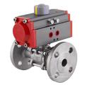 Edelstahl-Kugelhahn mit pneumatischem Antrieb Hersteller