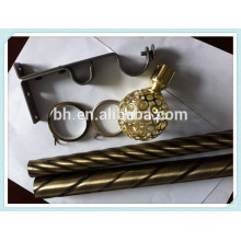 Curtain Pipe With Accessories,Curtain Pipe Bracket,Metal Curtain Twisted Pole
