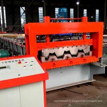 Chine munafacturer 750 seul plancher de platelage de plancher en bois platelage rouleau de production formant la ligne