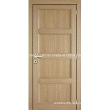 Interior Oak Arch Top Half Panel Wood and Glass Door, Oak Wood and Glass Door