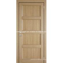Porta interior da madeira e do vidro do painel da parte superior do arco do carvalho, porta da madeira de carvalho e do vidro