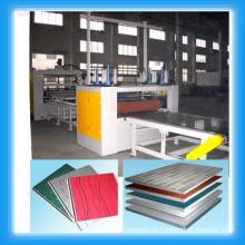 PUR Heißschmelzklebstoff Laminierlinie für Hochglanzplatte / Acryl mdf Rollen Laminierlinie /