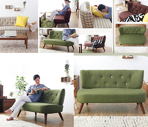 Loveseat Linen Armless Sofa