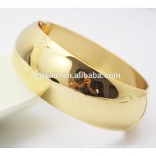 Real plating 18k gold bangle bracelets designs