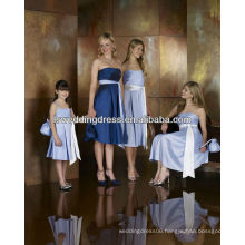 HB2128 Simple style strapless sleeveless gathered skirt A-line knee length zipper back light purple bridesmaid dress