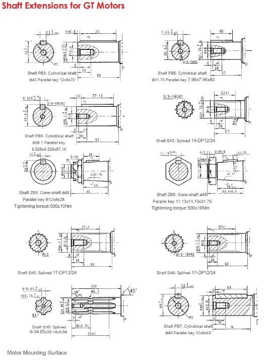 Shaft Extensions for GT Motors