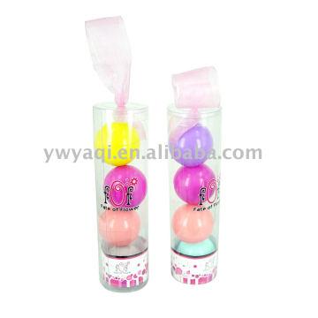 ball lip balm gift make up set