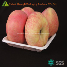 Plateau de conditionnement de fruits pommes fraîches