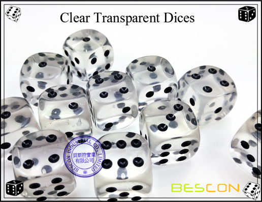 Clear Transparent Dices-3